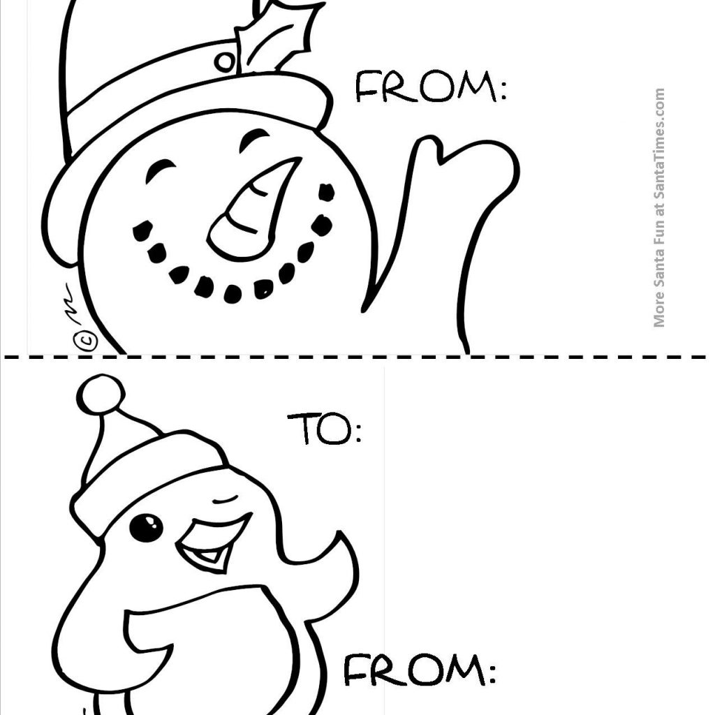 Christmas Coloring Gift Tags With To Color Here Are Some Large Just For The