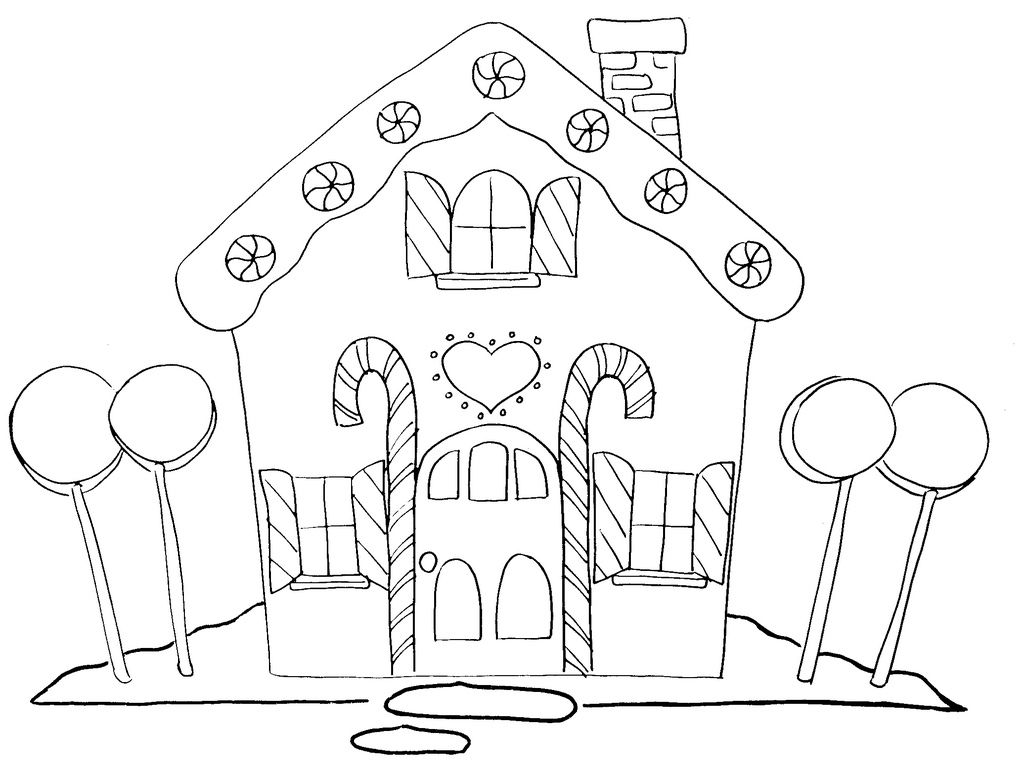 Christmas Coloring Gingerbread House With Adornos Para La Casa Pinterest