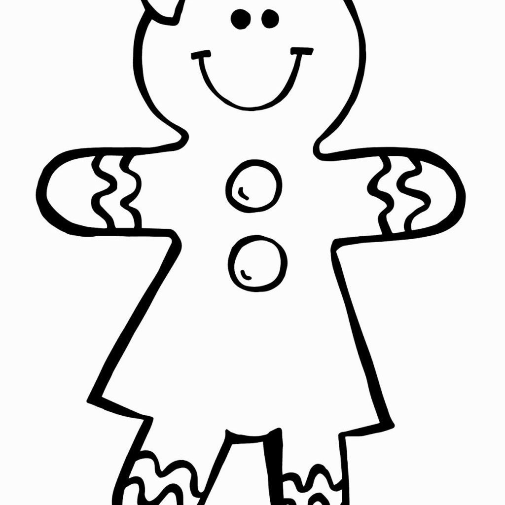 Christmas Coloring Gingerbread Man With Girl Pages Pinterest