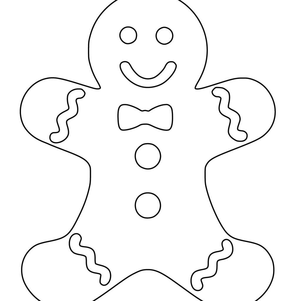 Christmas Coloring Gingerbread Man With Page Free Printable Pages