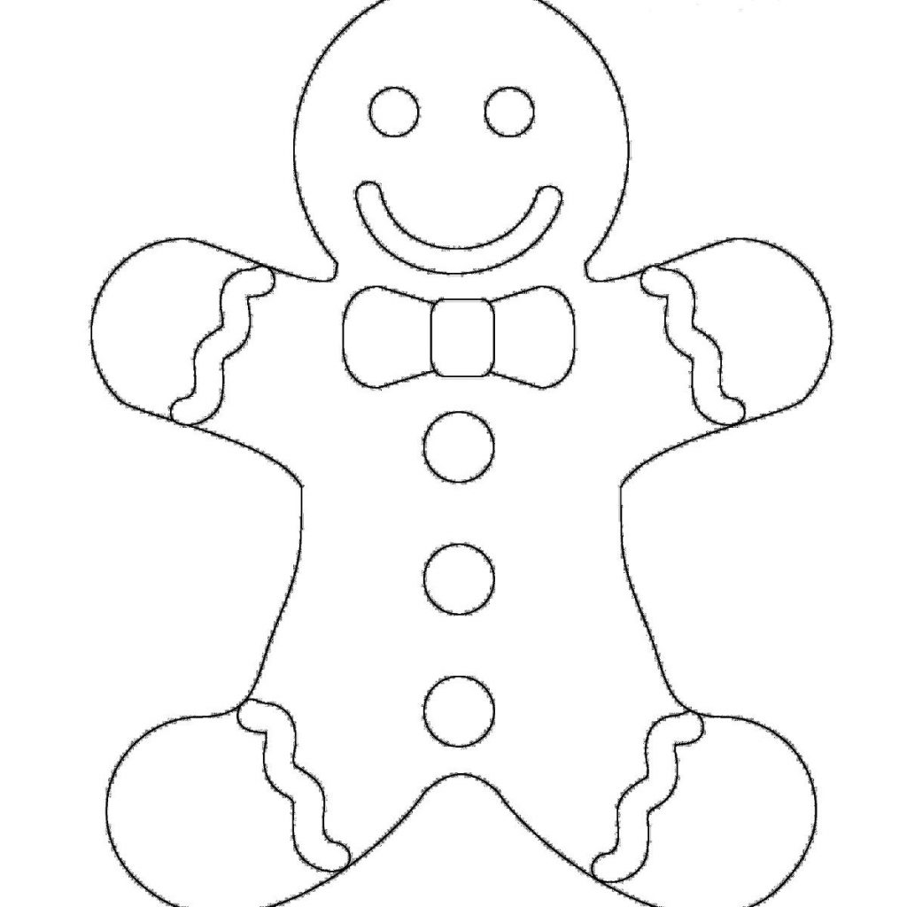 Christmas Coloring Gingerbread Man With Pages Page