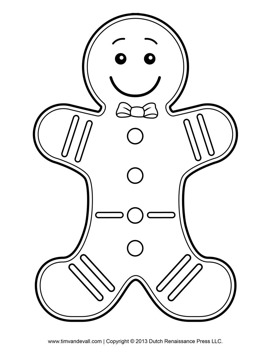 Christmas Coloring Gingerbread Man With Sheets Gulfmik Fa4849630c44