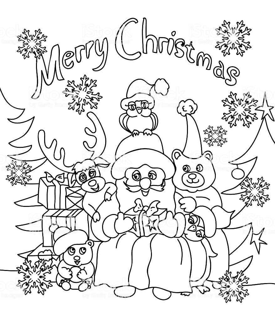 Christmas Coloring Greeting Cards With Card Stock Vector Art More Images Of