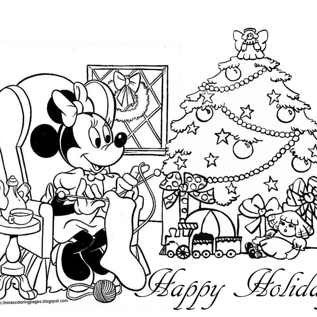 Christmas Coloring Greeting Cards With Disney Valid Pages