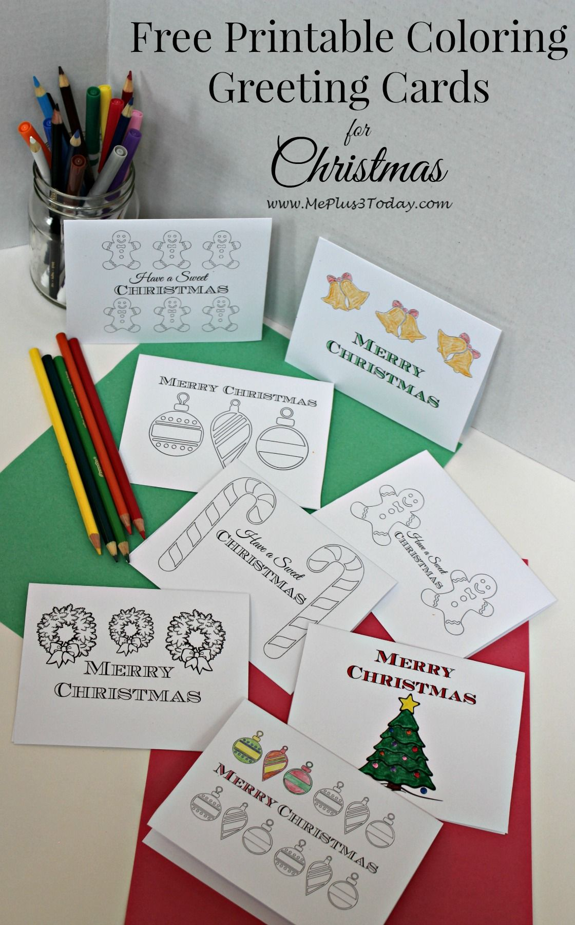 Christmas Coloring Greeting Cards With Use Pages To Spread Kindness Toddler