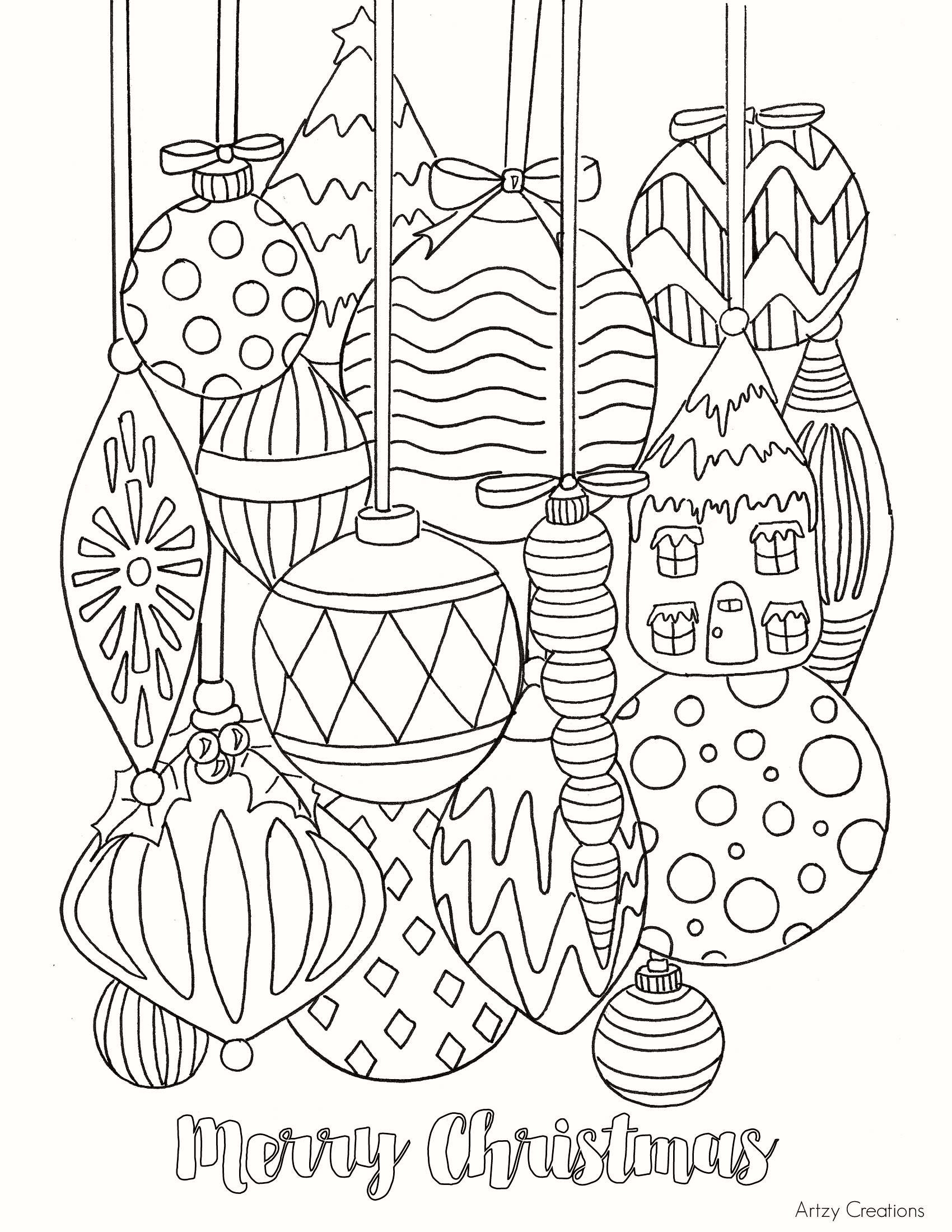 Christmas Coloring Hard With Pages New Free