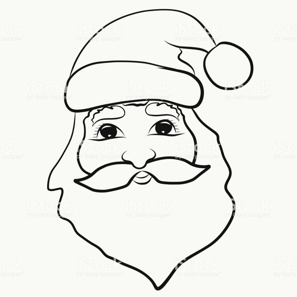 Christmas Coloring Hat With Santa Claus For Children Stock Vector Art More
