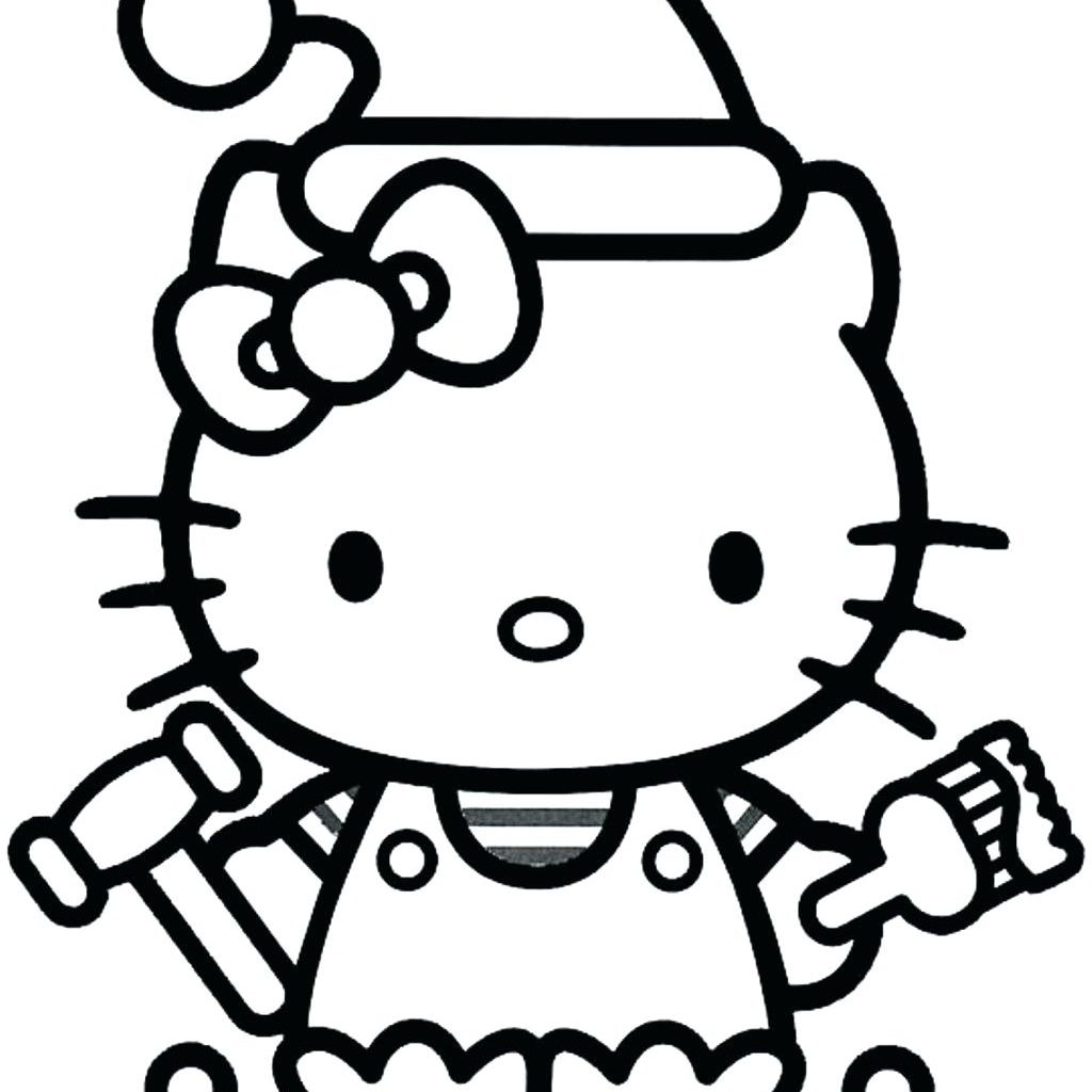 Christmas Coloring Hello Kitty With Collection Of Colouring Pages Download Them