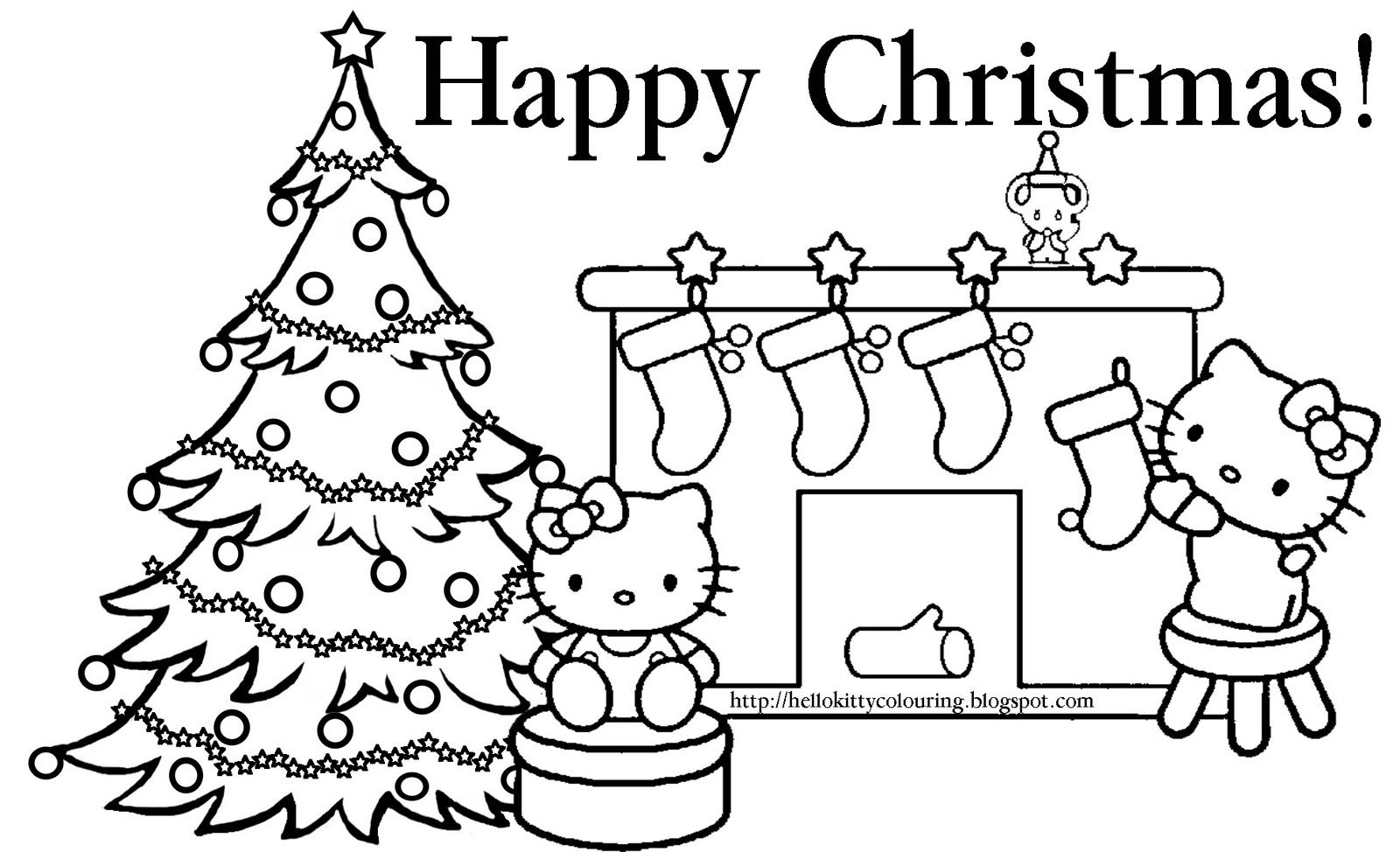 Christmas Coloring Hello Kitty With HELLO KITTY COLORING PAGES Pinterest