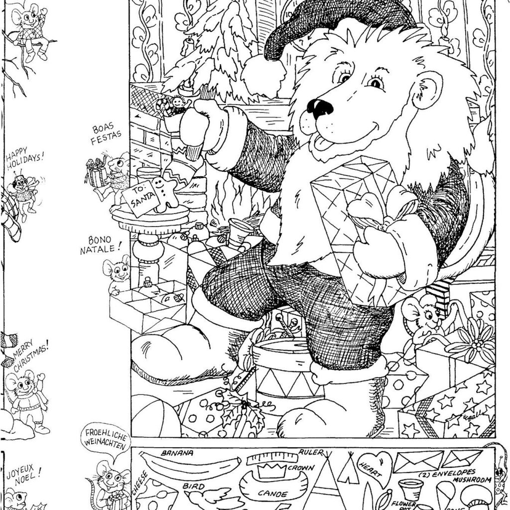 Christmas Coloring Hidden Pictures With Easy Peasy Activity Kids Activities Pinterest