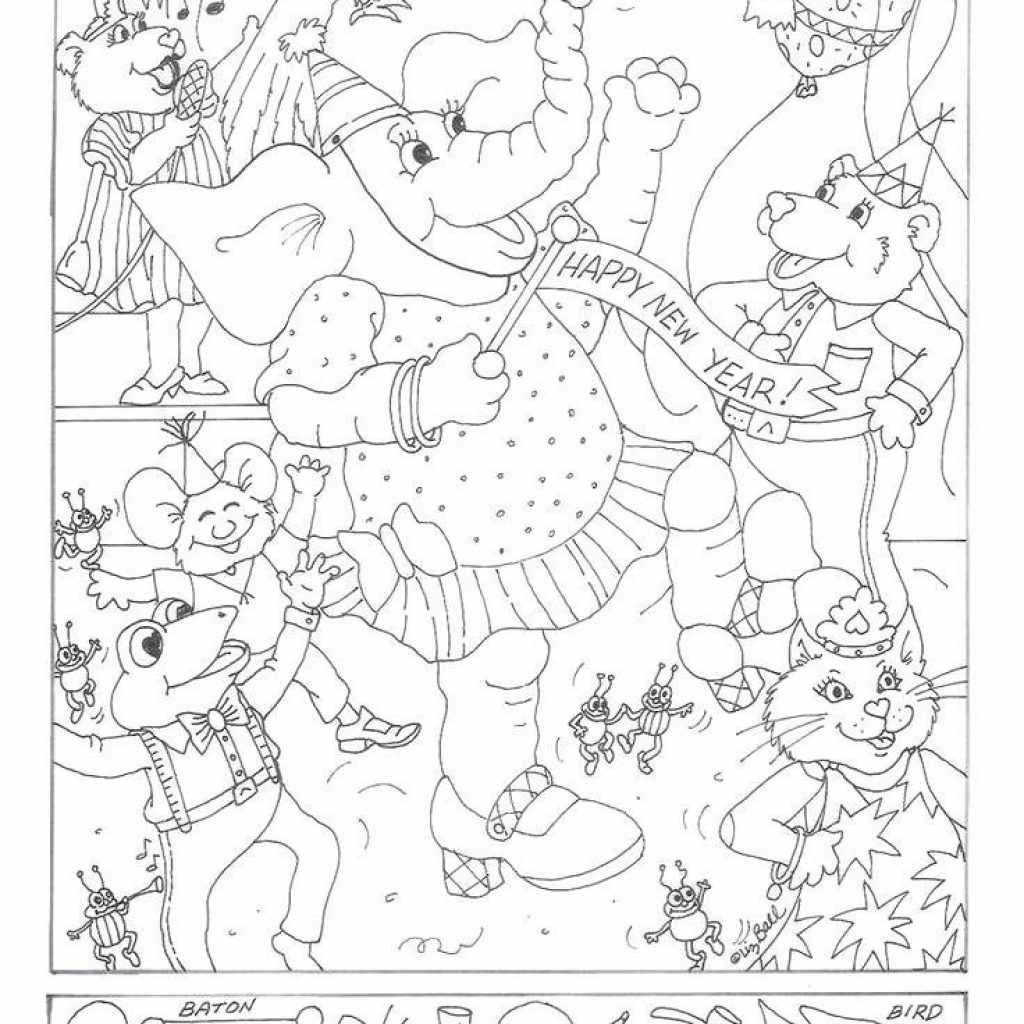 Christmas Coloring Hidden Pictures With Picture Color By Number Coloringsite Co