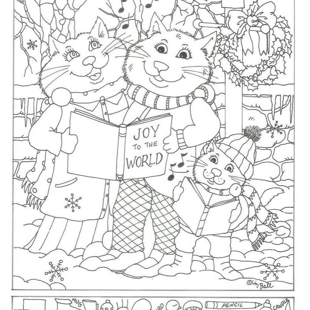 Christmas Coloring Hidden Pictures With Pin By Pamela Clampet On Pinterest