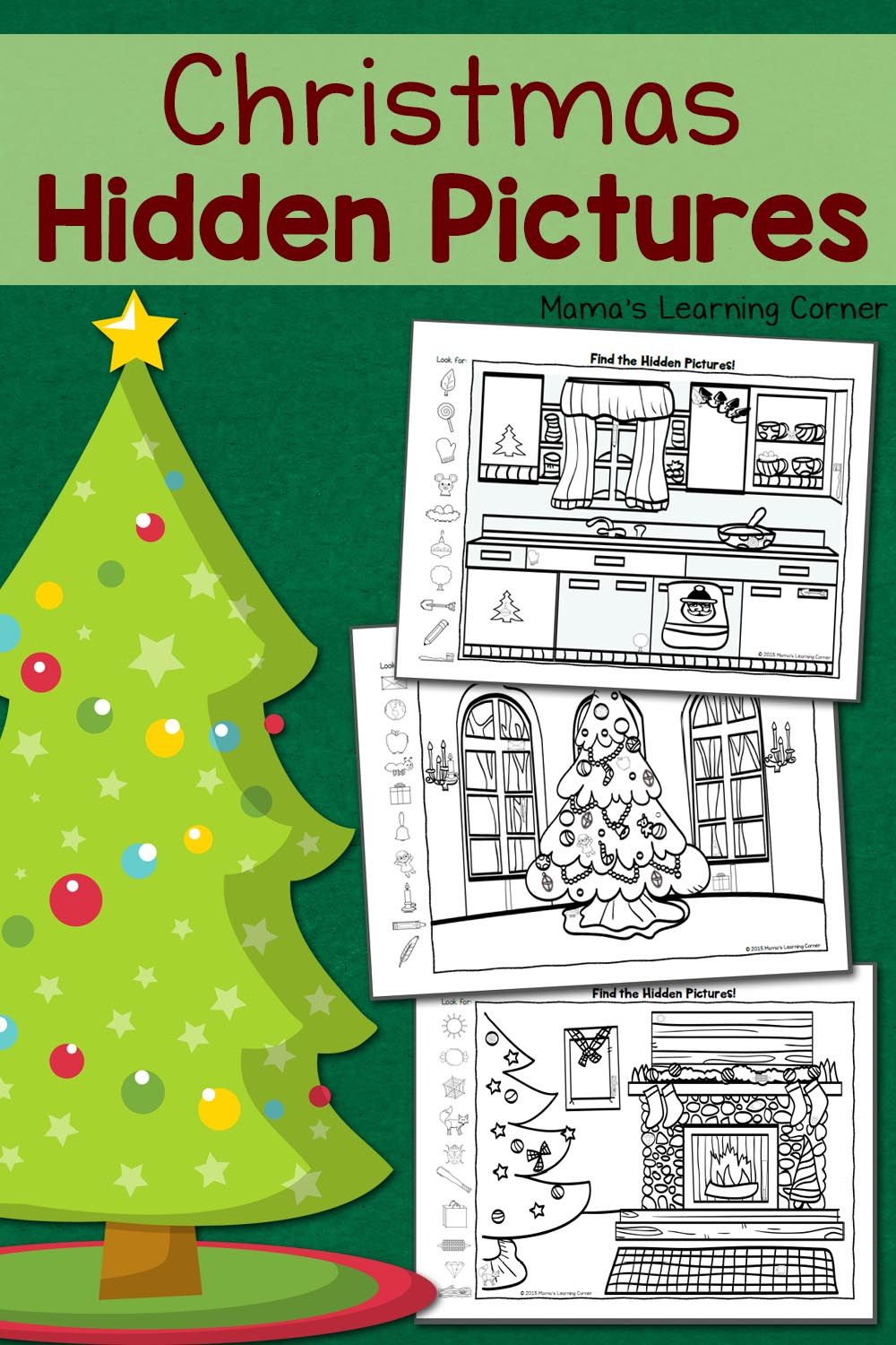 Christmas Coloring Hidden Pictures With Printables Best Of Mama S Learning
