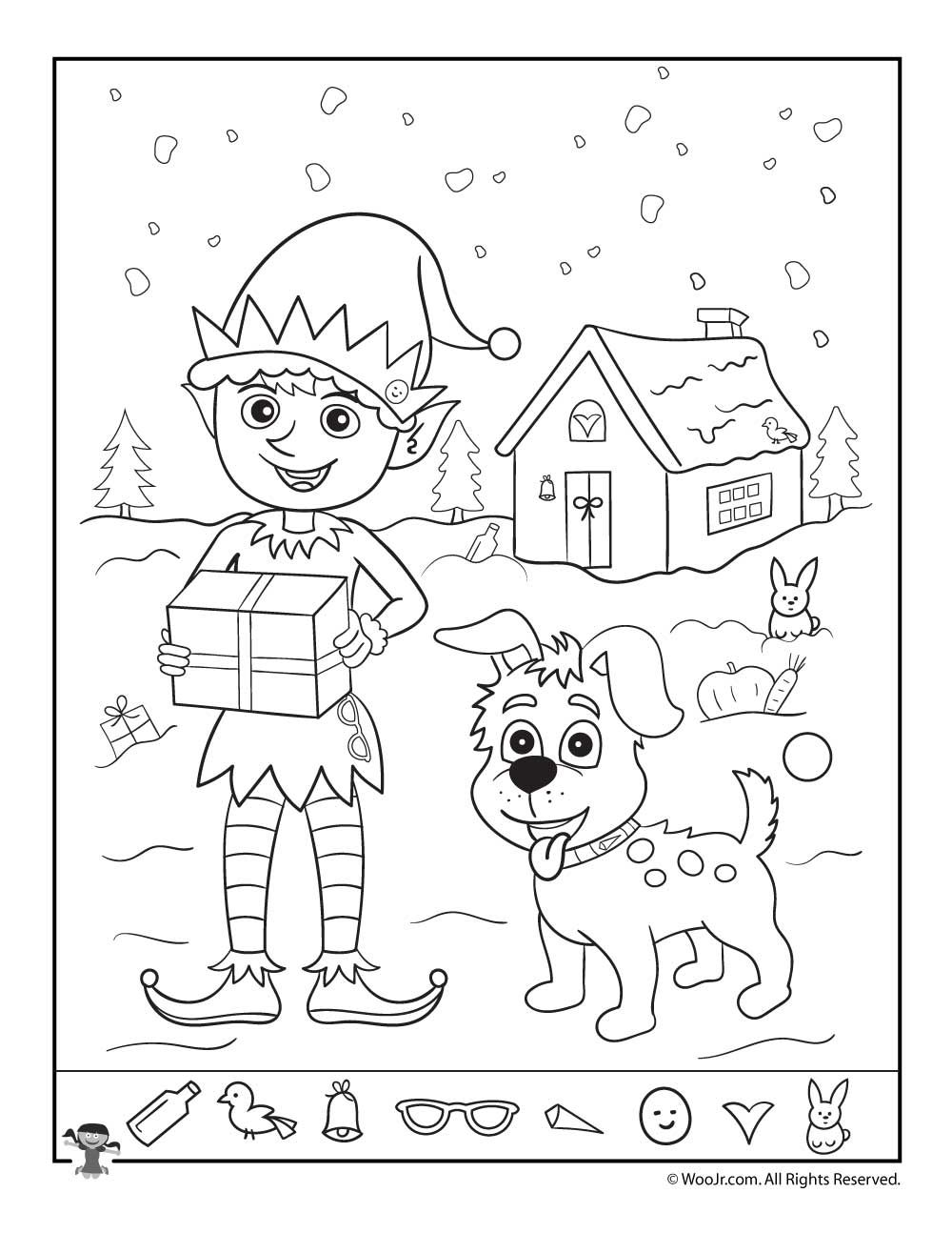 Christmas Coloring Hidden Pictures With Printables For Kids Bradley And Amelia