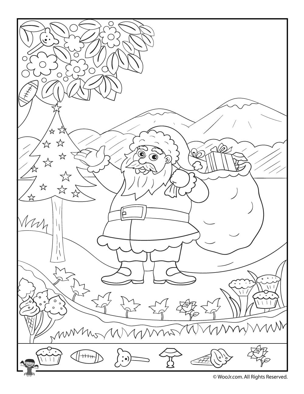 Christmas Coloring Hidden Pictures With Printables For Kids Woo Jr Activities