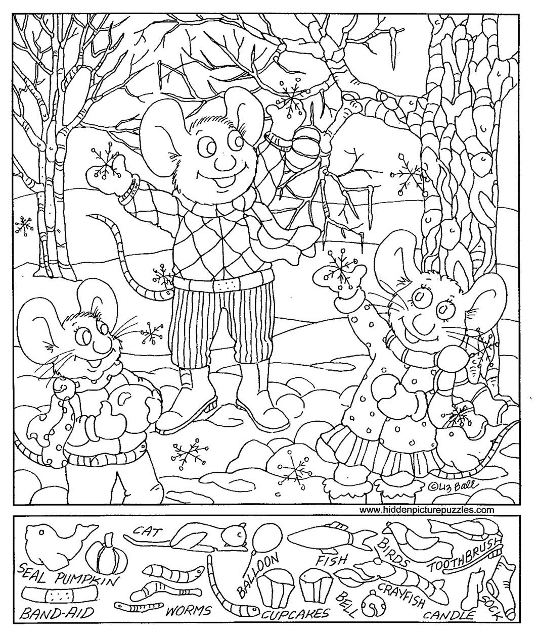 Christmas Coloring Hidden Pictures With Printables Happy Holidays