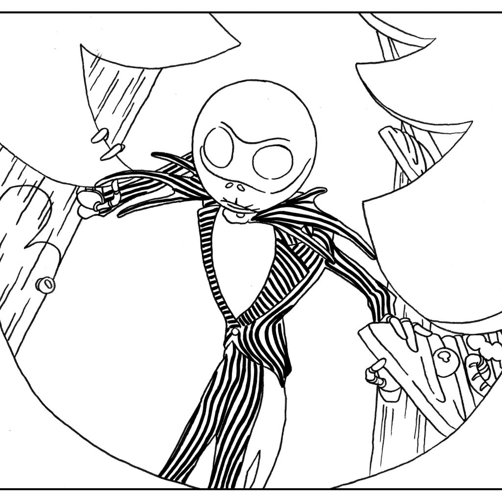 Christmas Coloring Ideas With 40 Unique Collection Of Nightmare Before Pages