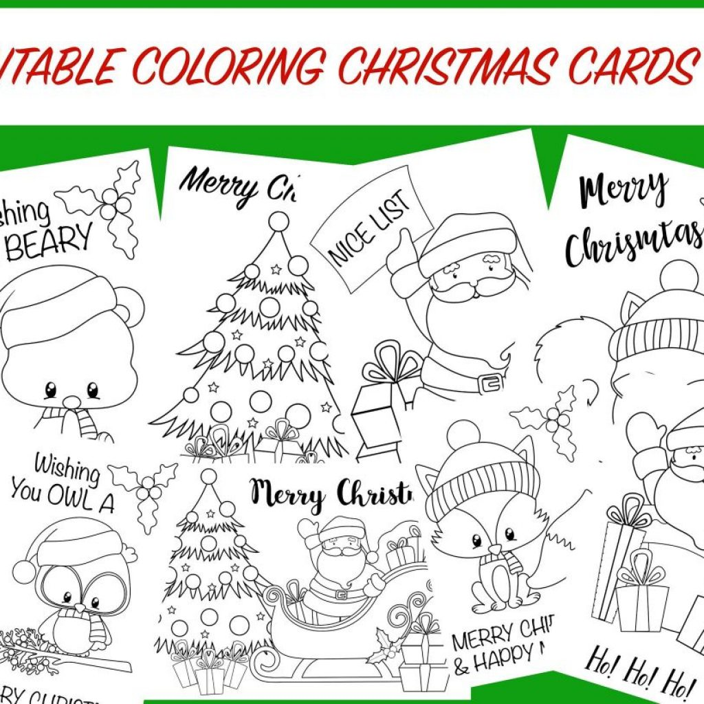 Christmas Coloring In Cards With Free Printable Activity For Kids