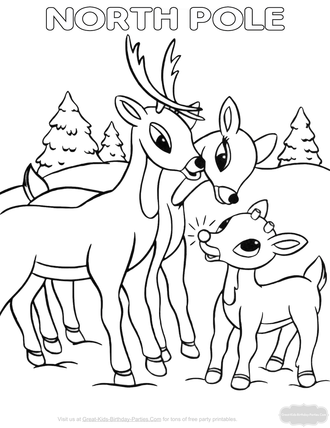 Christmas Coloring In Pages With