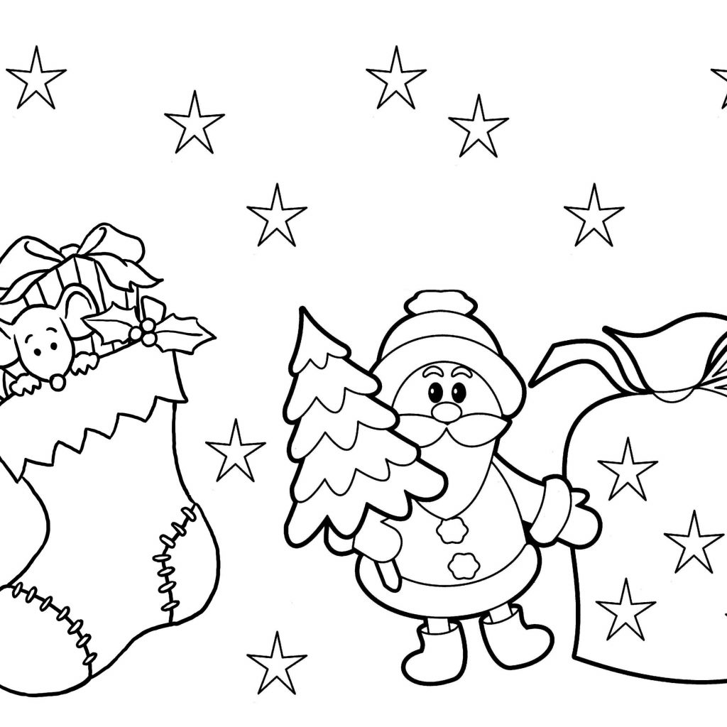 Christmas Coloring In Pictures To Print With Preschool Pages Printable Free Books