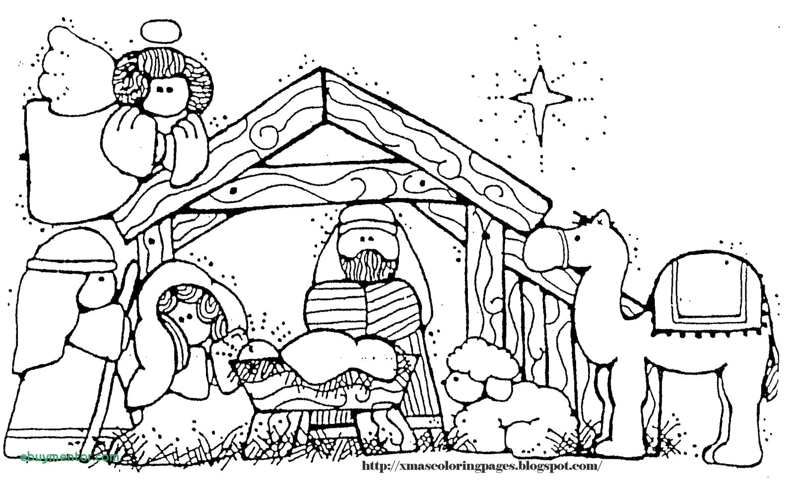 Christmas Coloring Jesus With Manger Pages Wikie Cloud Design Ideas
