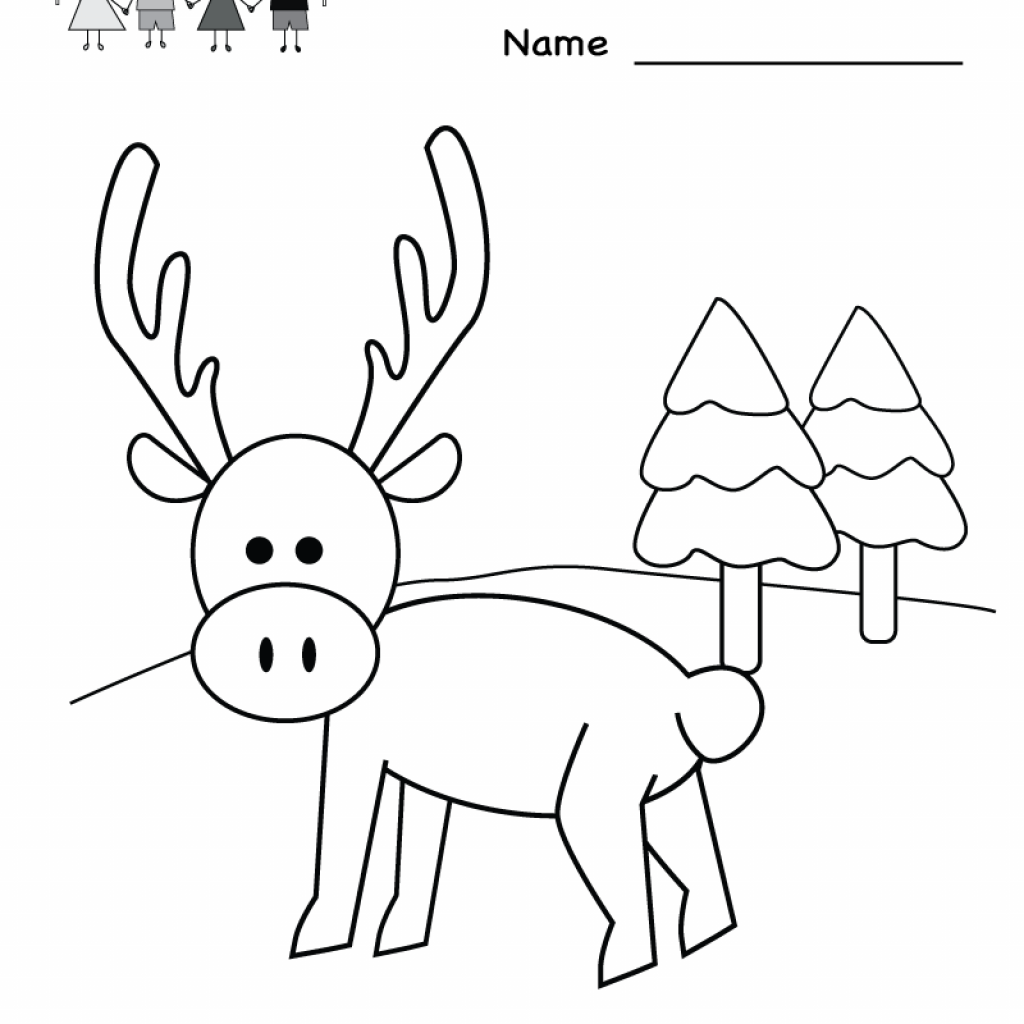 Christmas Coloring Kindergarten With Worksheet Printable