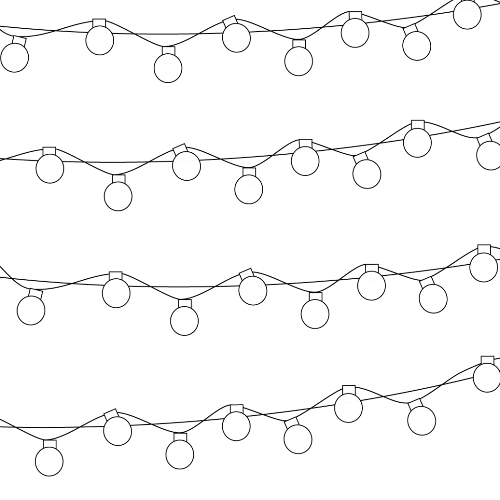 Christmas Coloring Lights With Pattern Page Free Printable Pages