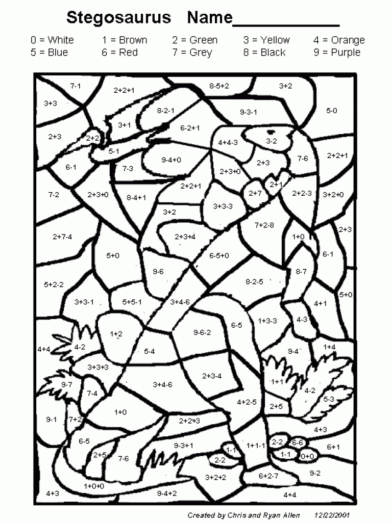 Christmas Coloring Math Puzzles With Worksheets For All Download And