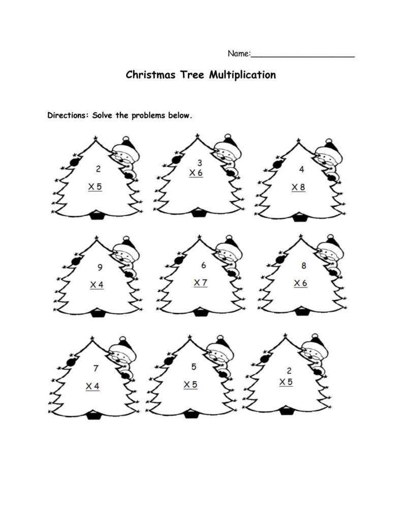 Christmas Coloring Math Worksheets With Pages Free