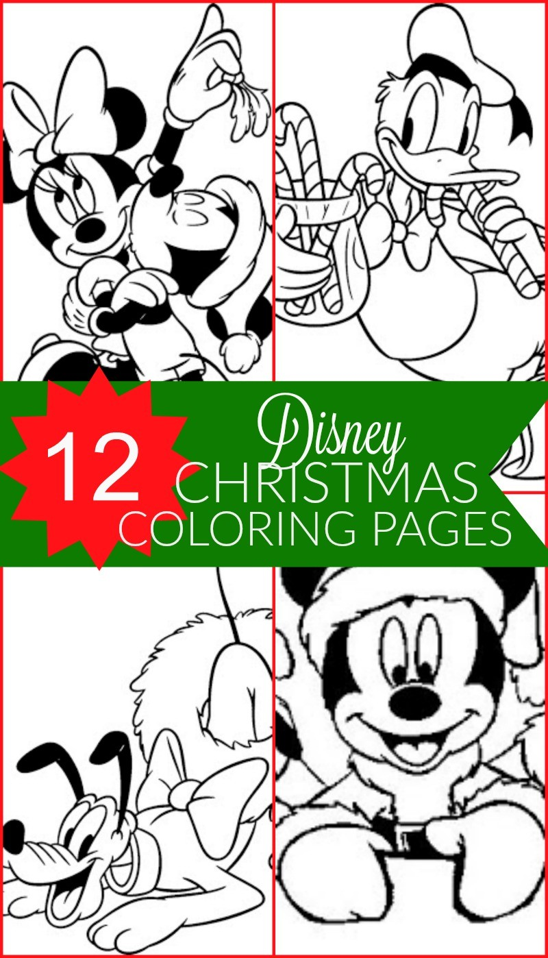 Christmas Coloring Mickey Mouse With Free Disney Printable Pages For Kids Honey Lime