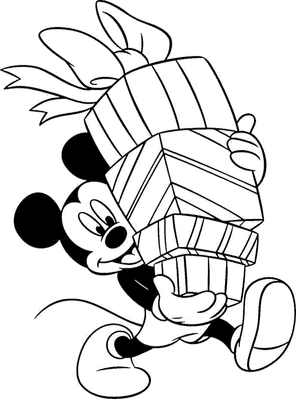 Christmas Coloring Mickey Mouse With Learning Through Pages