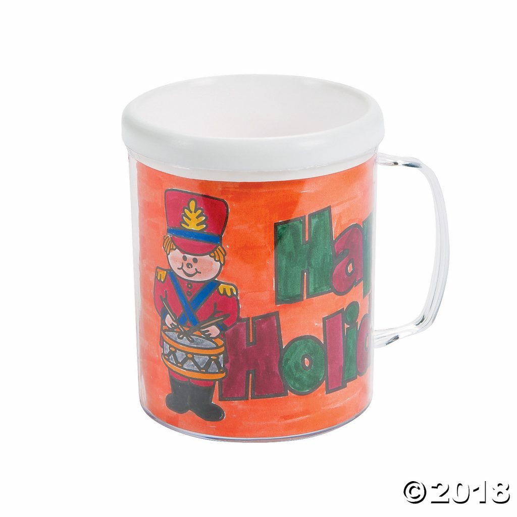 Christmas Coloring Mugs With Color Your Own Holiday