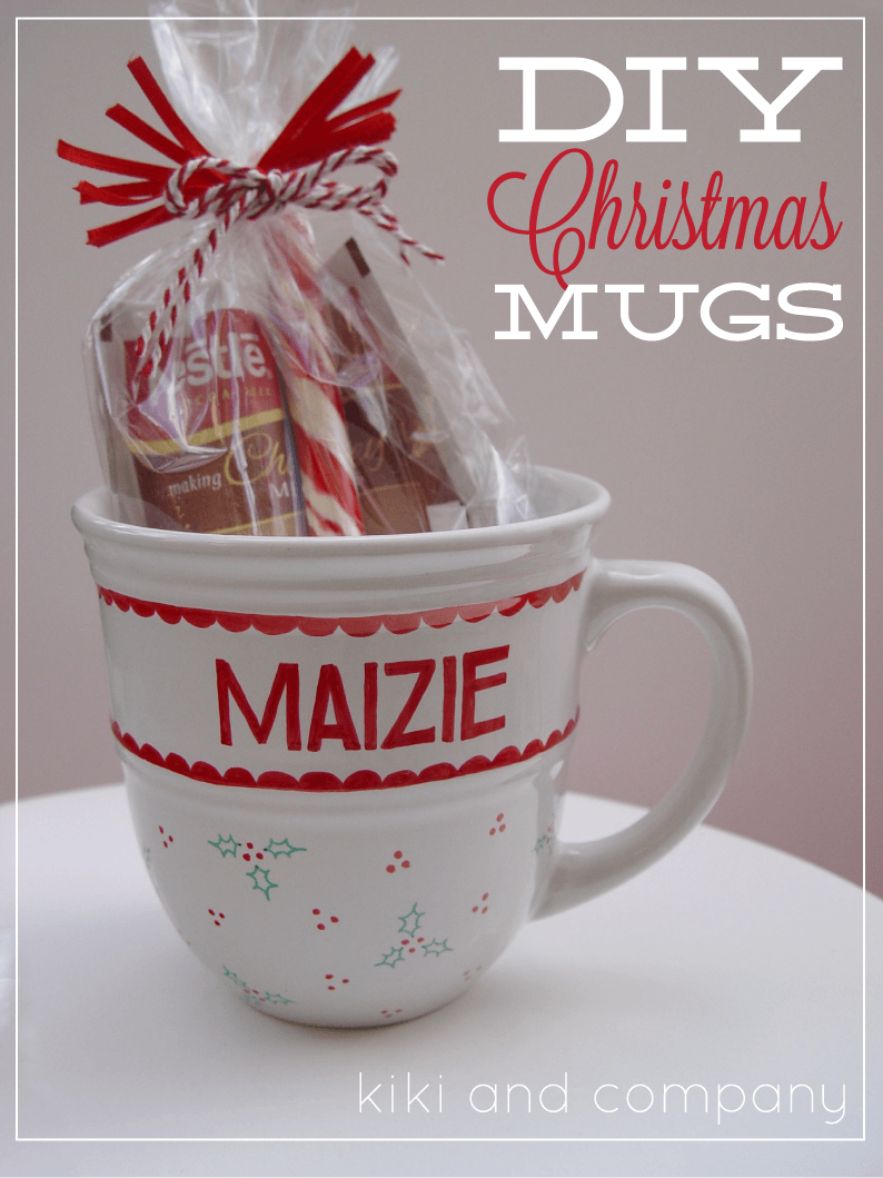 Christmas Coloring Mugs With DIY I Heart Nap Time