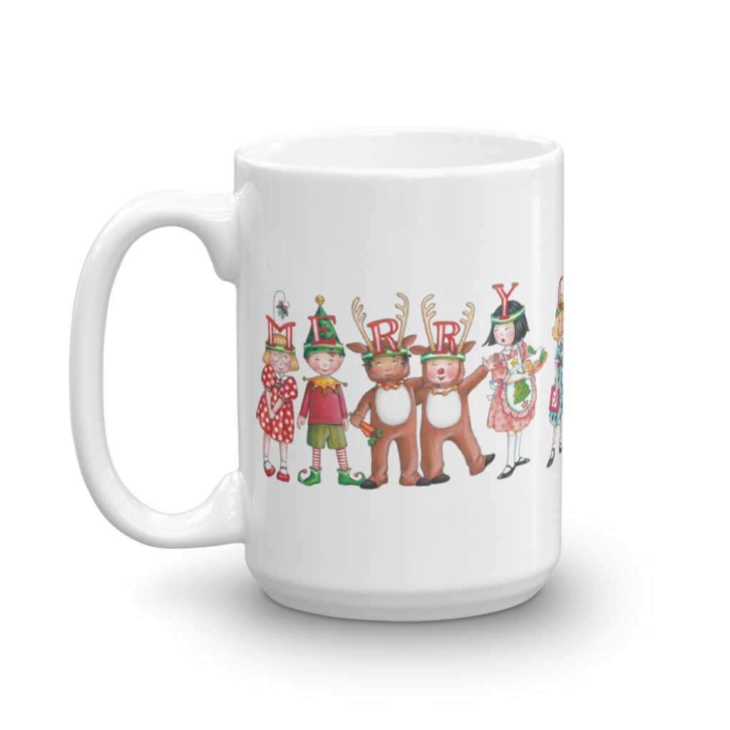 Christmas Coloring Mugs With Drinkware Mary Engelbreit