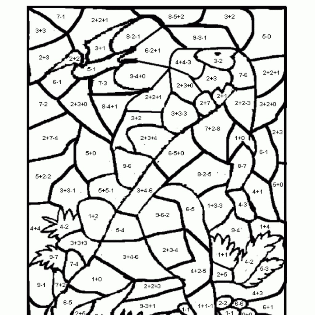 Christmas Coloring Multiplication Worksheets With Math For All Download And