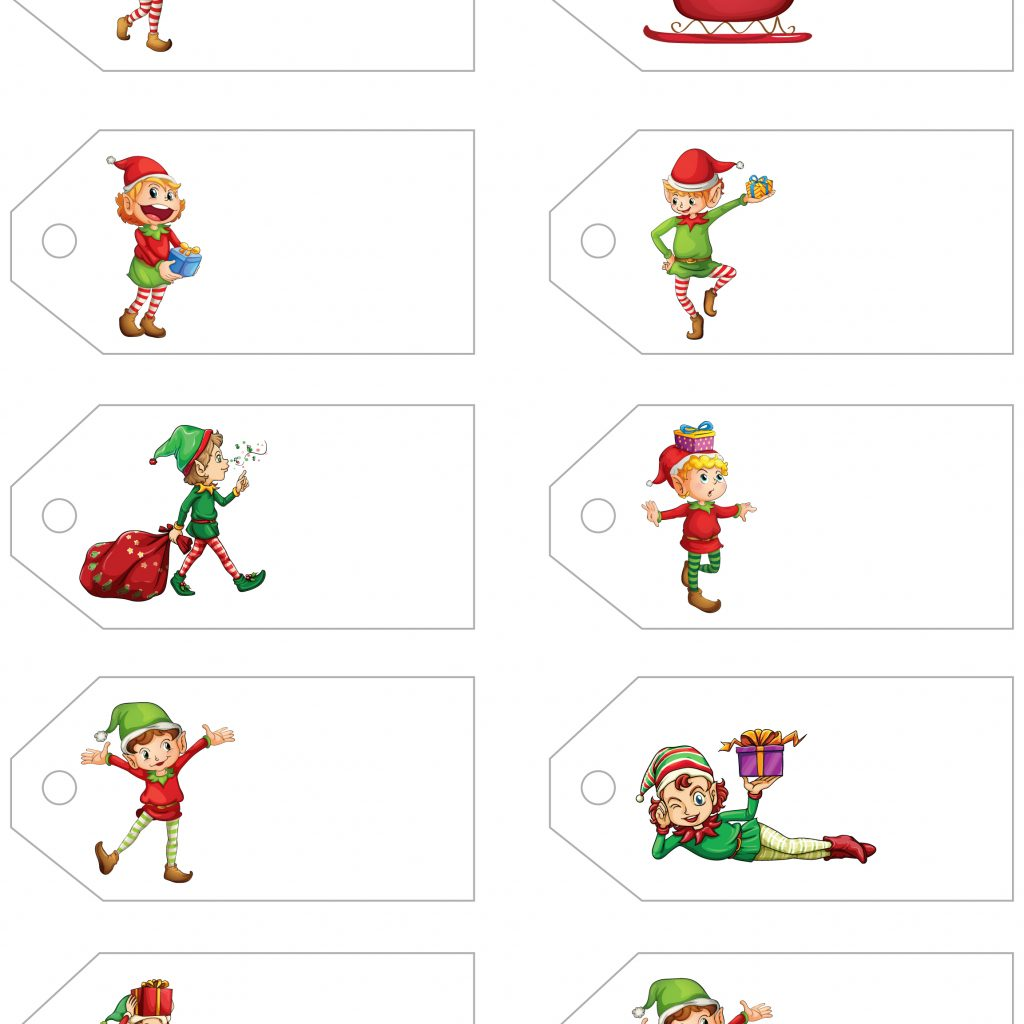 Christmas Coloring Name Tags With Santa S Little Gift To You Free Printable And Labels