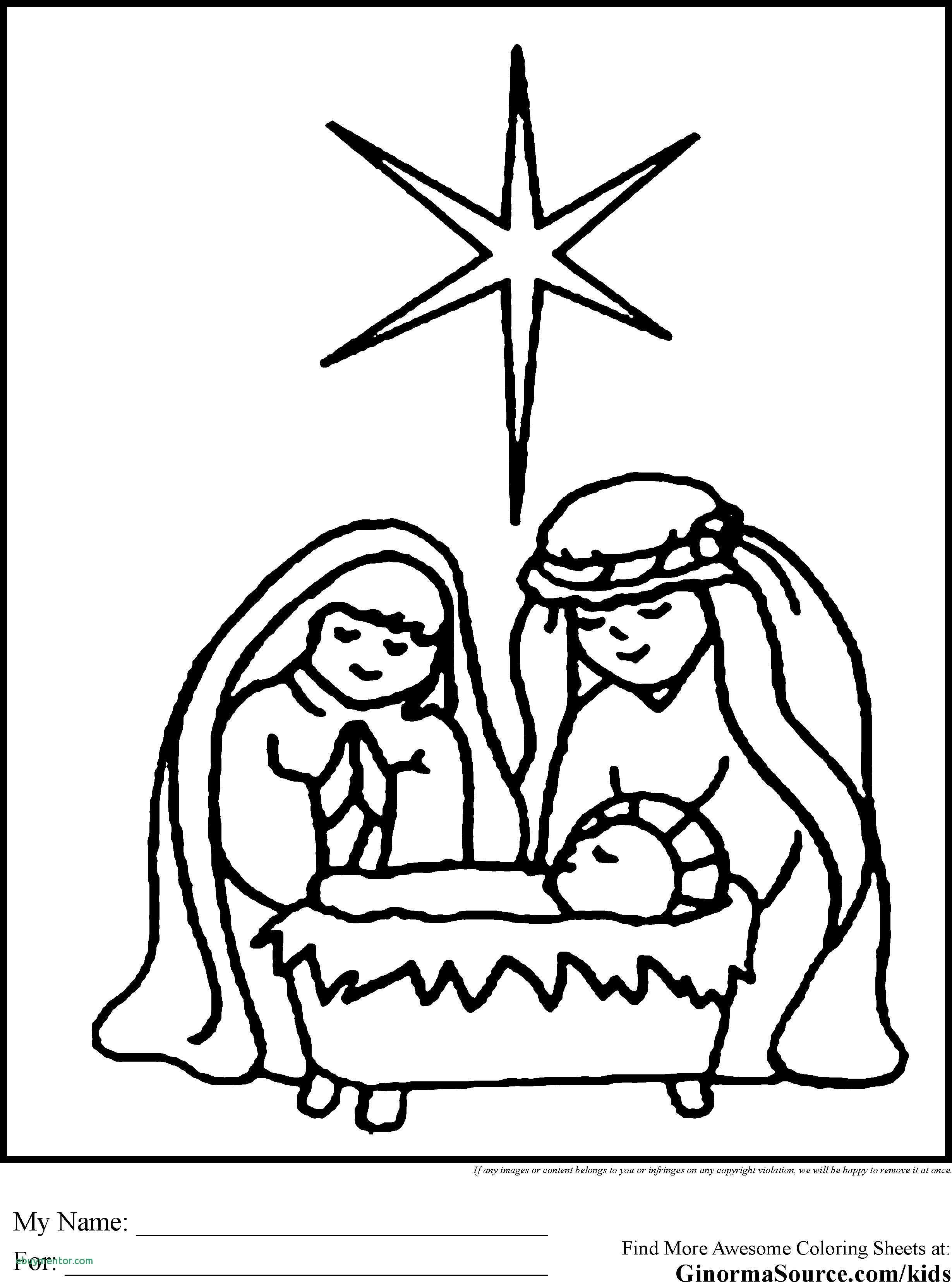 Christmas Coloring Nativity Scene With Free Pages New 49