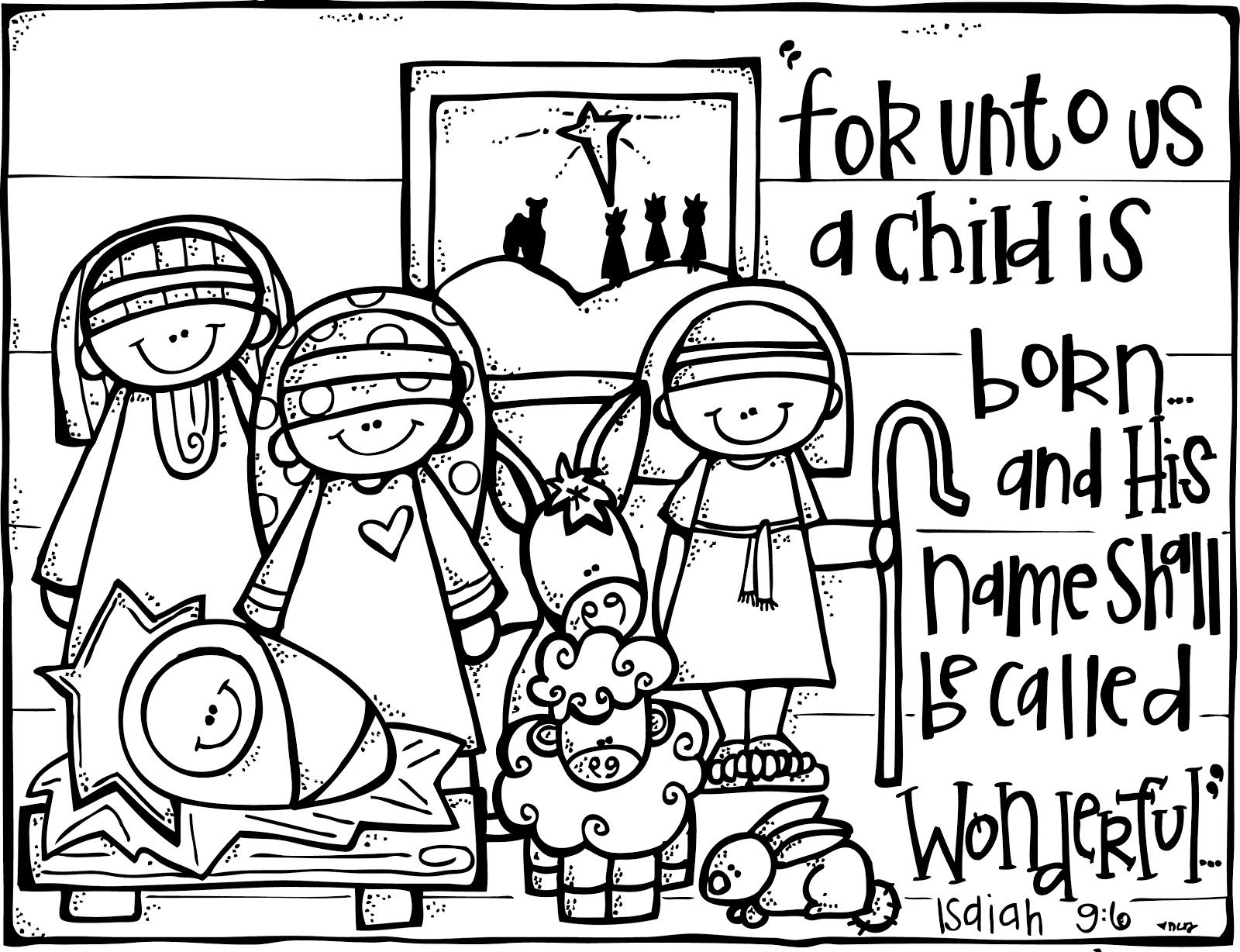 Christmas Coloring Nativity With Christian Activities FREE Page From