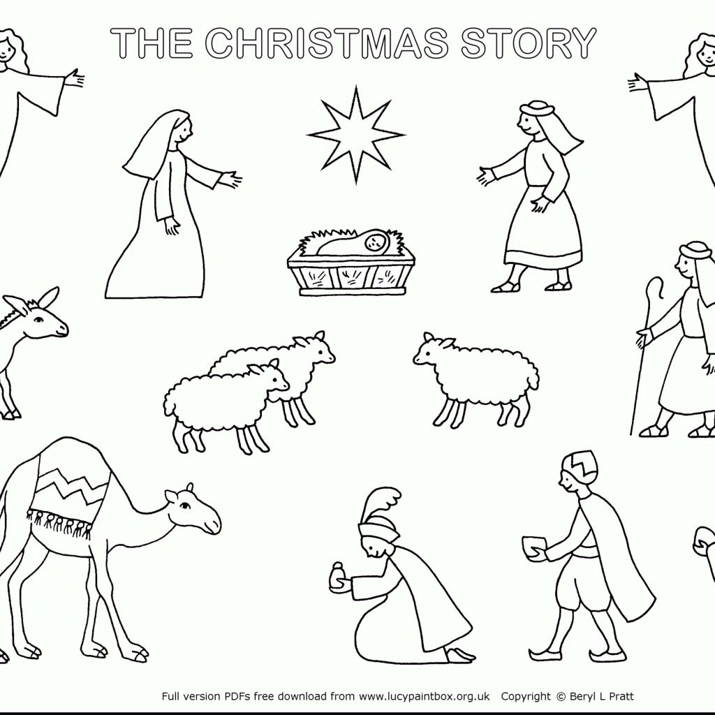 Christmas Coloring Nativity With Free Pages Scene Modern Home Design