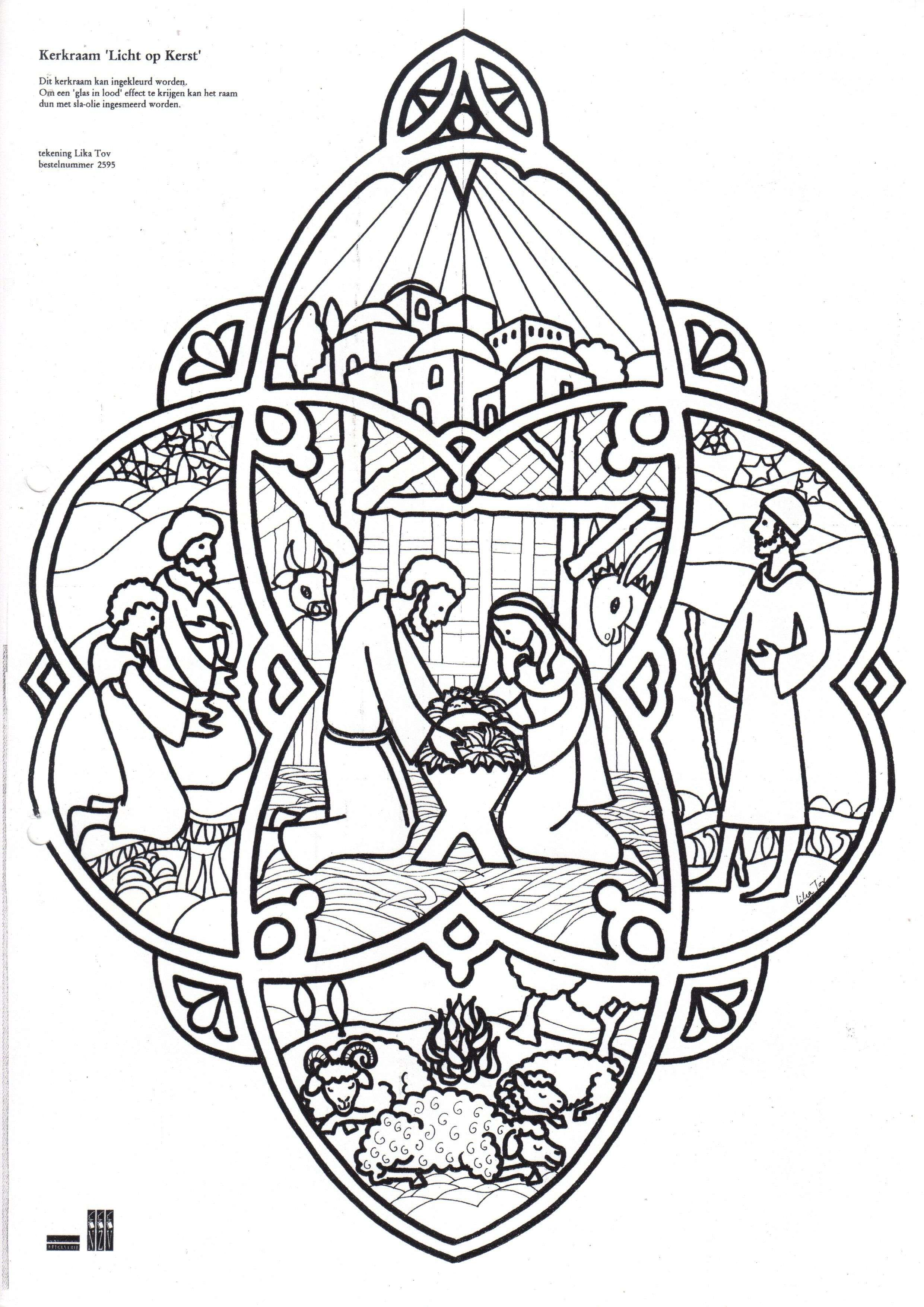 Christmas Coloring Nativity With Pages Baby Jesus Page