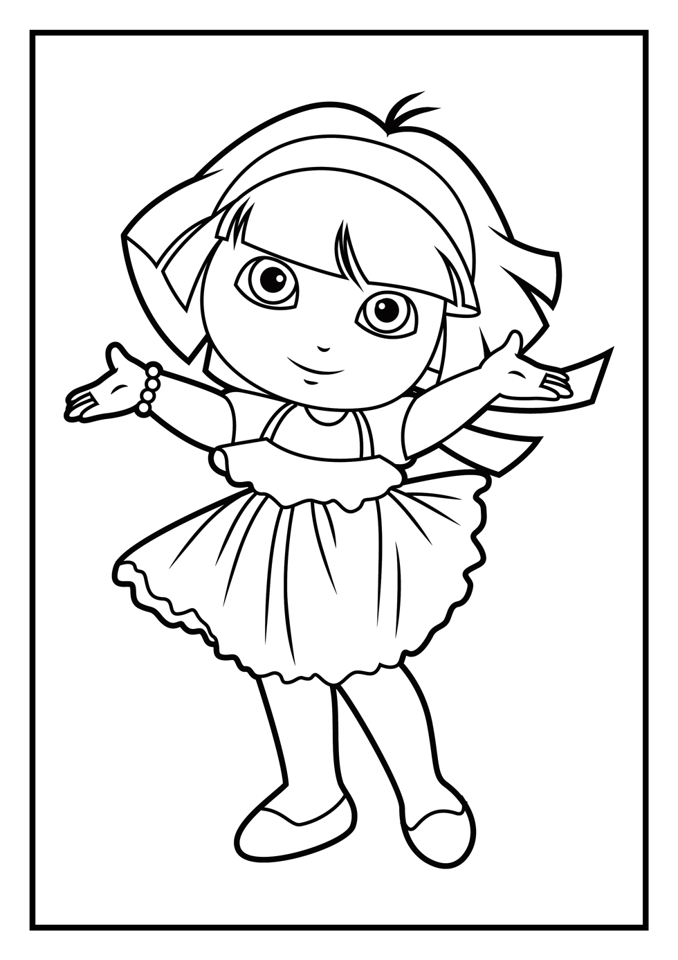 Christmas Coloring Online Free Games With Dora Pages Diego