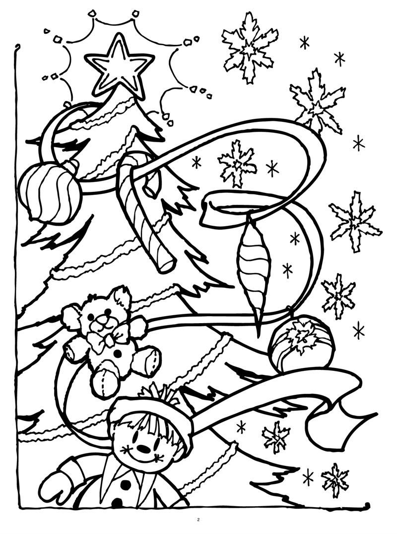 Christmas Coloring Online With Pages 2 Printable Page For Kids