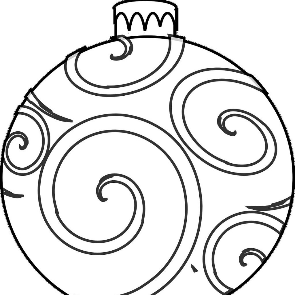 Christmas Coloring Ornaments Printable With Ornament Pages Download For Kids