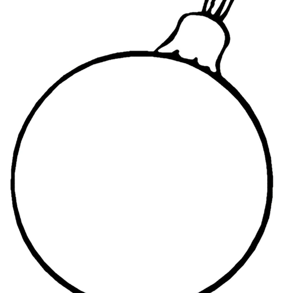 Christmas Coloring Ornaments Printable With Tree Fresh