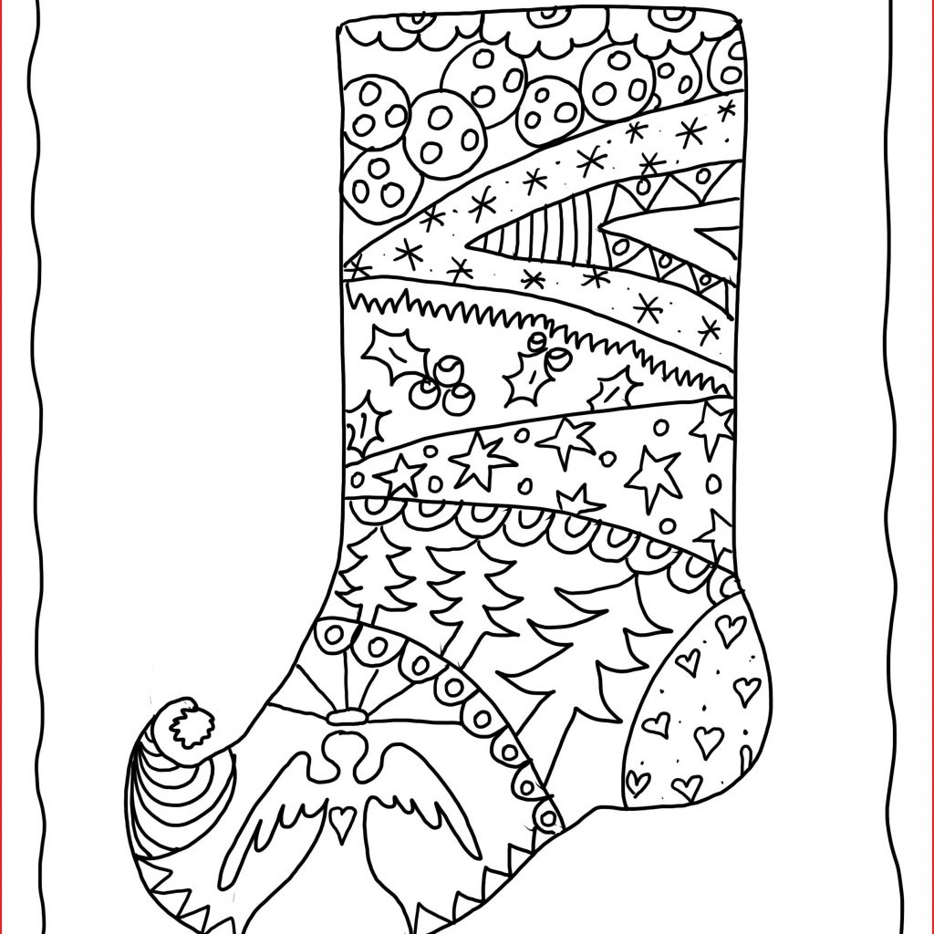Christmas Coloring Ornaments With Adult Pages 27583 Stocking To Color