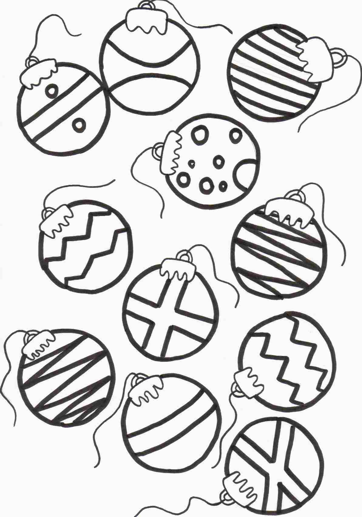 Christmas Coloring Ornaments With Ornament Page Runninggames Me