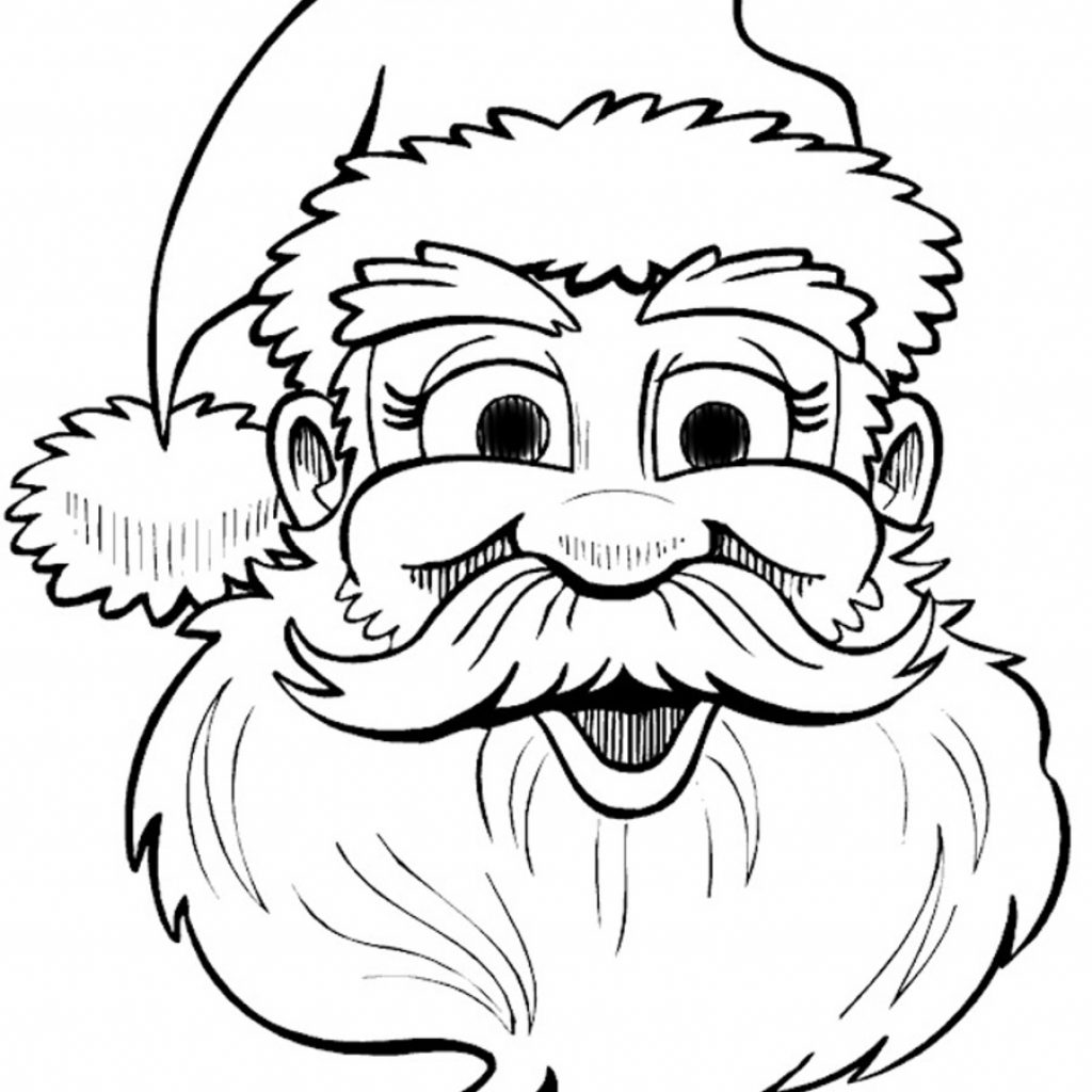 Christmas Coloring Outline With Santa Claus Drawing Book Clip Art