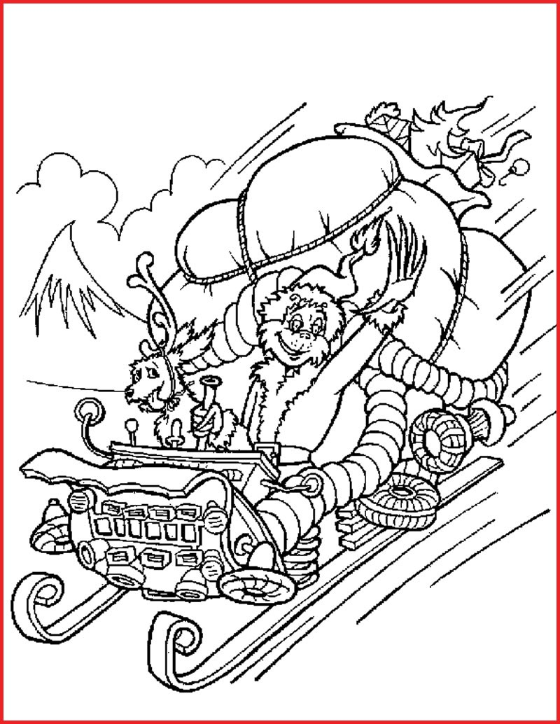 Christmas Coloring Page With Pages 129769 How The Grinch Stole