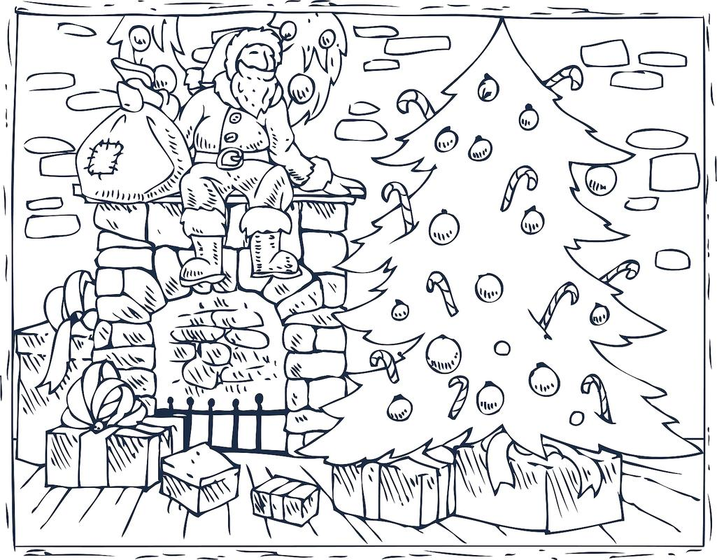 Christmas Coloring Page With Pages 16 Printable For The