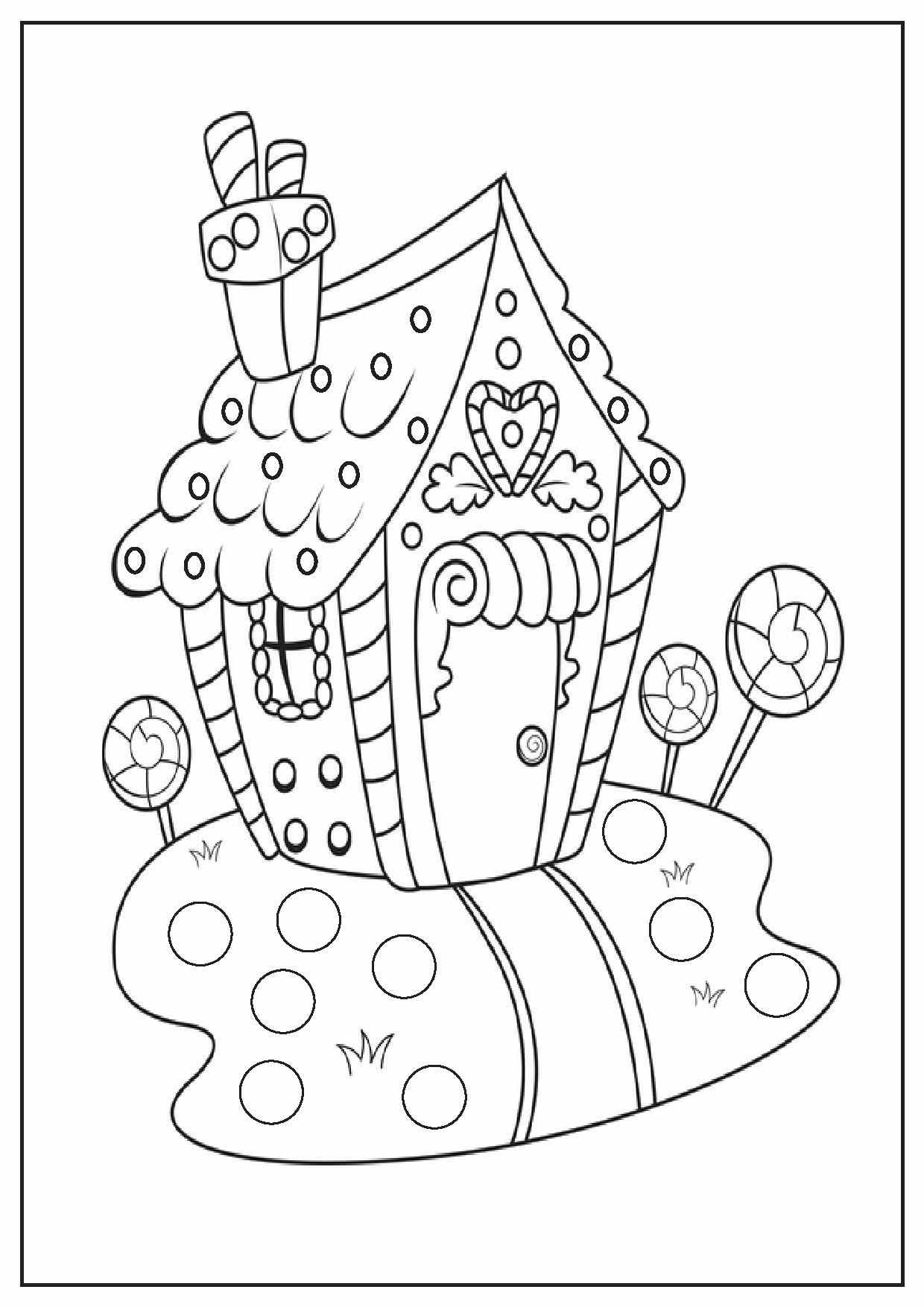 Christmas Coloring Page With Pages Printable